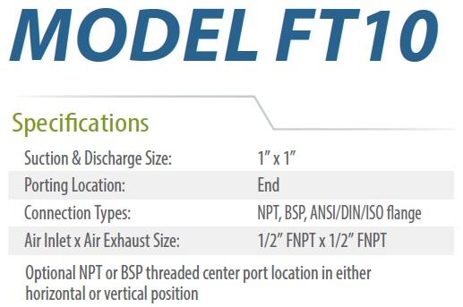 FT10 ESPECIFICACIONES ECOFLUSA